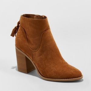 Tassel, heeled booties NEW